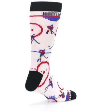 Image of White Ice Hockey Men's Dress Socks (side-1-back-22)