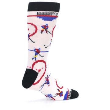 Image of White Ice Hockey Men's Dress Socks (side-1-23)