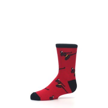 Image of Red Black Ninja Kid's Dress Socks (side-2-10)
