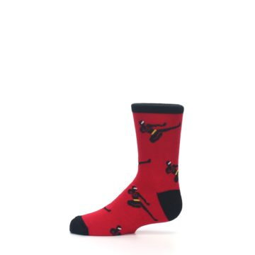 Image of Red Black Ninja Kid's Dress Socks (side-2-11)