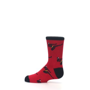 Image of Red Black Ninja Kid's Dress Socks (side-2-12)