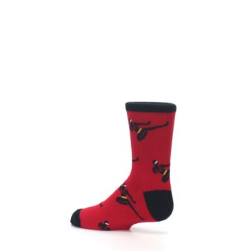 Image of Red Black Ninja Kid's Dress Socks (side-2-13)
