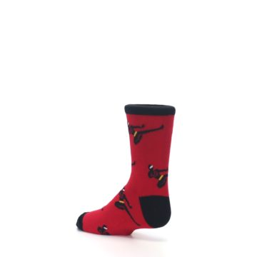 Image of Red Black Ninja Kid's Dress Socks (side-2-back-14)