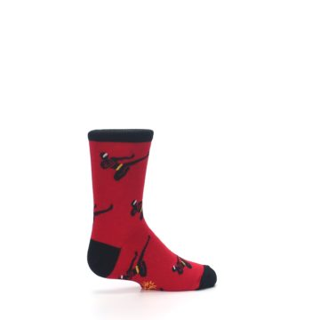 Image of Red Black Ninja Kid's Dress Socks (side-1-23)