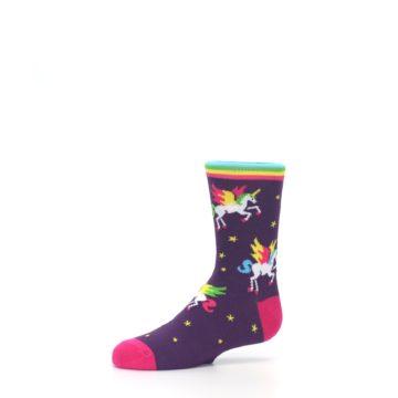 Image of Purple Multi Unicorns Kid's Dress Socks (side-2-10)