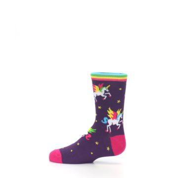 Image of Purple Multi Unicorns Kid's Dress Socks (side-2-12)