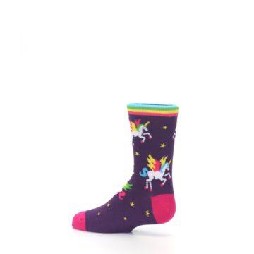 Image of Purple Multi Unicorns Kid's Dress Socks (side-2-13)