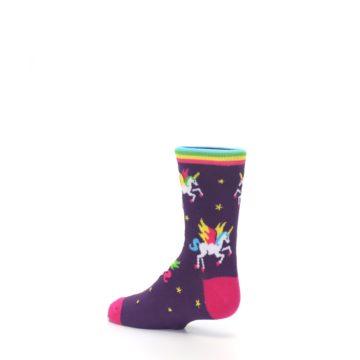 Image of Purple Multi Unicorns Kid's Dress Socks (side-2-back-14)