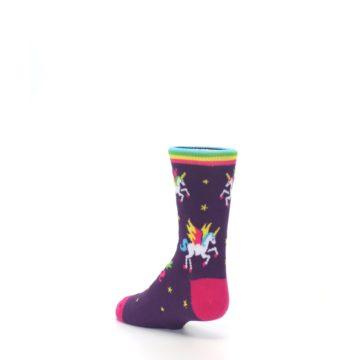 Image of Purple Multi Unicorns Kid's Dress Socks (side-2-back-15)