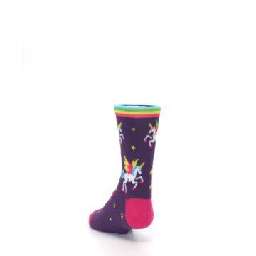 Image of Purple Multi Unicorns Kid's Dress Socks (side-2-back-16)