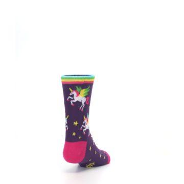 Image of Purple Multi Unicorns Kid's Dress Socks (side-1-back-20)