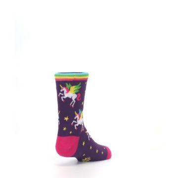 Image of Purple Multi Unicorns Kid's Dress Socks (side-1-back-21)