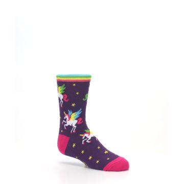 Image of Purple Multi Unicorns Kid's Dress Socks (side-1-26)