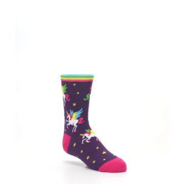 Image of Purple Multi Unicorns Kid's Dress Socks (side-1-27)