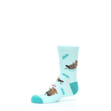 Image of Aqua My Otter Half Kid's Dress Socks (side-2-10)