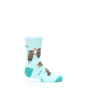 Image of Aqua My Otter Half Kid's Dress Socks (side-1-24)