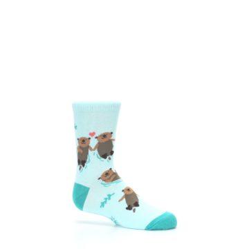 Image of Aqua My Otter Half Kid's Dress Socks (side-1-25)