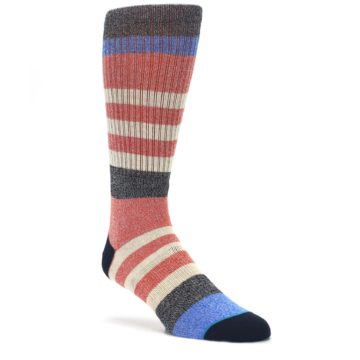 Red-Cream-Stripe-Mens-Casual-Socks-STANCE