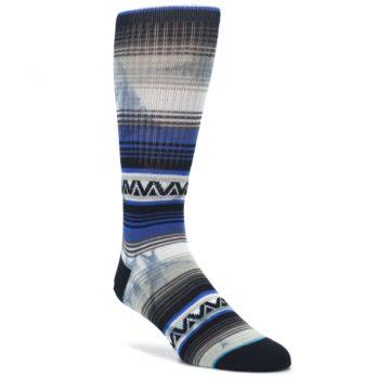 Blue-Gray-Mexi-Stripe-Mens-Casual-Socks-STANCE