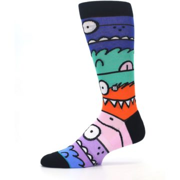 Image of Multi-Color Monster Mash Men's Casual Socks (side-2-11)