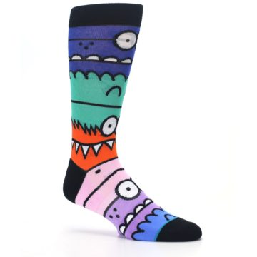 Image of Multi-Color Monster Mash Men's Casual Socks (side-1-26)