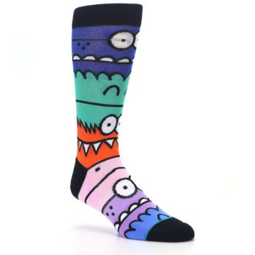 Image of Multi-Color Monster Mash Men's Casual Socks (side-1-27)