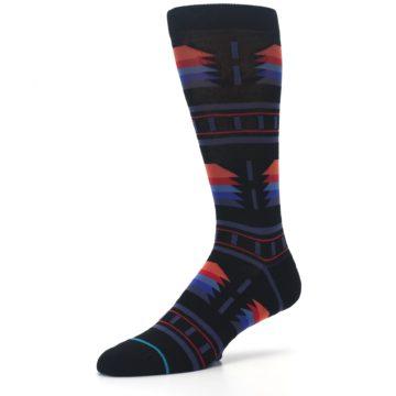 Image of Black Multi Alum Stripe Men's Casual Socks (side-2-09)