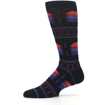 Image of Black Multi Alum Stripe Men's Casual Socks (side-2-11)
