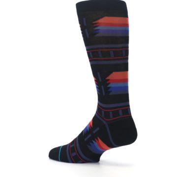 Image of Black Multi Alum Stripe Men's Casual Socks (side-2-back-14)