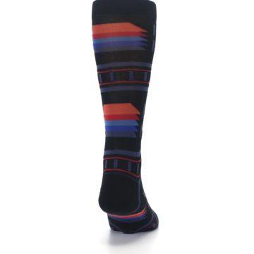 Image of Black Multi Alum Stripe Men's Casual Socks (back-19)