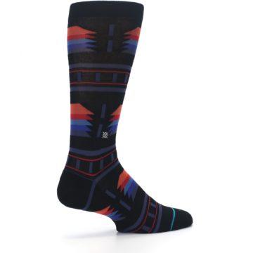 Image of Black Multi Alum Stripe Men's Casual Socks (side-1-23)