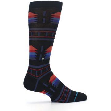 Image of Black Multi Alum Stripe Men's Casual Socks (side-1-24)