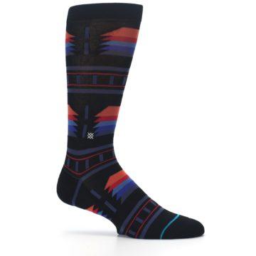 Image of Black Multi Alum Stripe Men's Casual Socks (side-1-25)