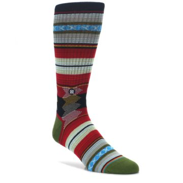 Red-Green-Guadalupe-Stripe-Mens-Casual-Socks-STANCE