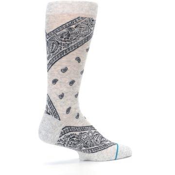 Image of Light Gray Barrio Paisley Men's Casual Socks (side-1-23)