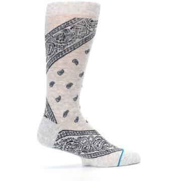 Image of Light Gray Barrio Paisley Men's Casual Socks (side-1-24)