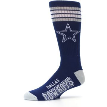 Image of Dallas Cowboys Men's Athletic Crew Socks (side-2-10)