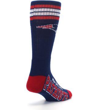 Image of New England Patriots Men's Athletic Crew Socks (side-1-back-21)