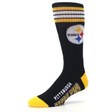 Image of Pittsburgh Steelers Men's Athletic Crew Socks (side-2-09)