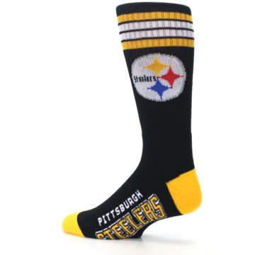 Image of Pittsburgh Steelers Men's Athletic Crew Socks (side-2-13)