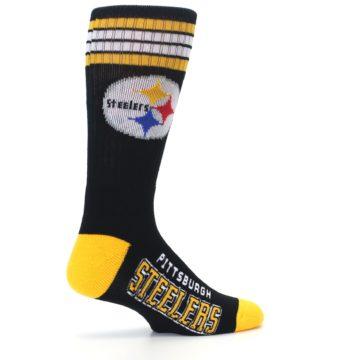 Image of Pittsburgh Steelers Men's Athletic Crew Socks (side-1-23)