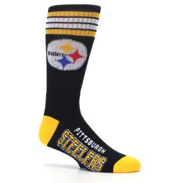 Image of Pittsburgh Steelers Men's Athletic Crew Socks (side-1-25)