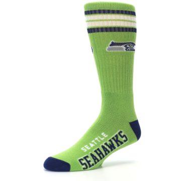 Image of Seattle Seahawks Men's Athletic Crew Socks (side-2-09)