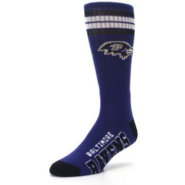 Image of Baltimore Ravens Men's Athletic Crew Socks (side-2-front-08)