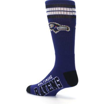 Image of Baltimore Ravens Men's Athletic Crew Socks (side-2-back-14)