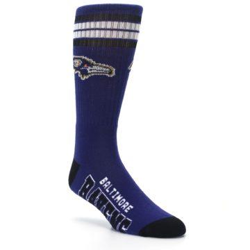 Image of Baltimore Ravens Men's Athletic Crew Socks (side-1-27)