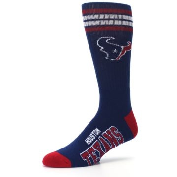 Image of Houston Texans Men's Athletic Crew Socks (side-2-09)