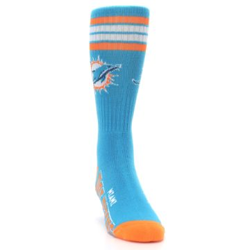 Image of Miami Dolphins Men's Athletic Crew Socks (side-1-front-03)