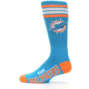Image of Miami Dolphins Men's Athletic Crew Socks (side-2-12)