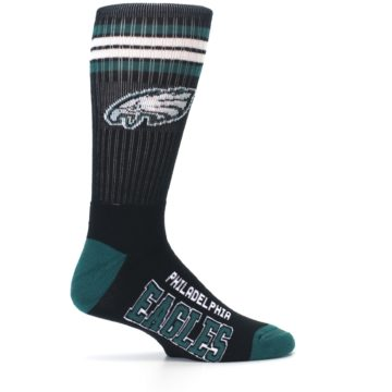 Image of Philadelphia Eagles Men's Athletic Crew Socks (side-1-24)
